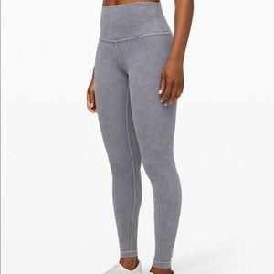 Lululemon Wunder Under Rare Snow Washed Leggings